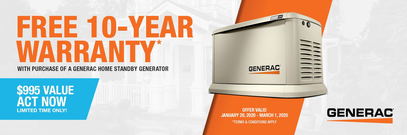 Homestandby Generator Deal | Warranty Offer | Generac Dealer | Gambrills, MD